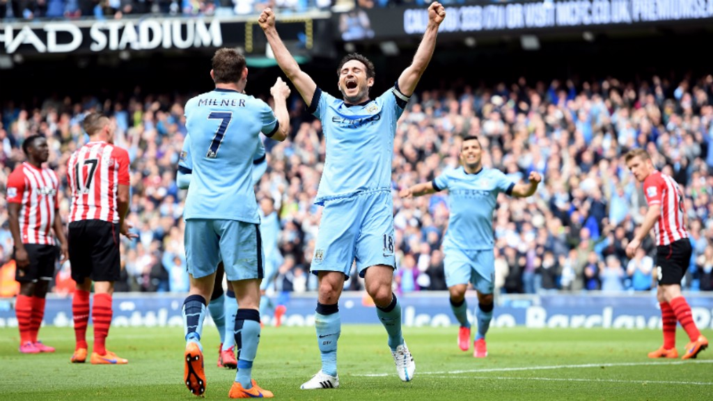 TALKING FRANK: Lampard is Kun's favourite