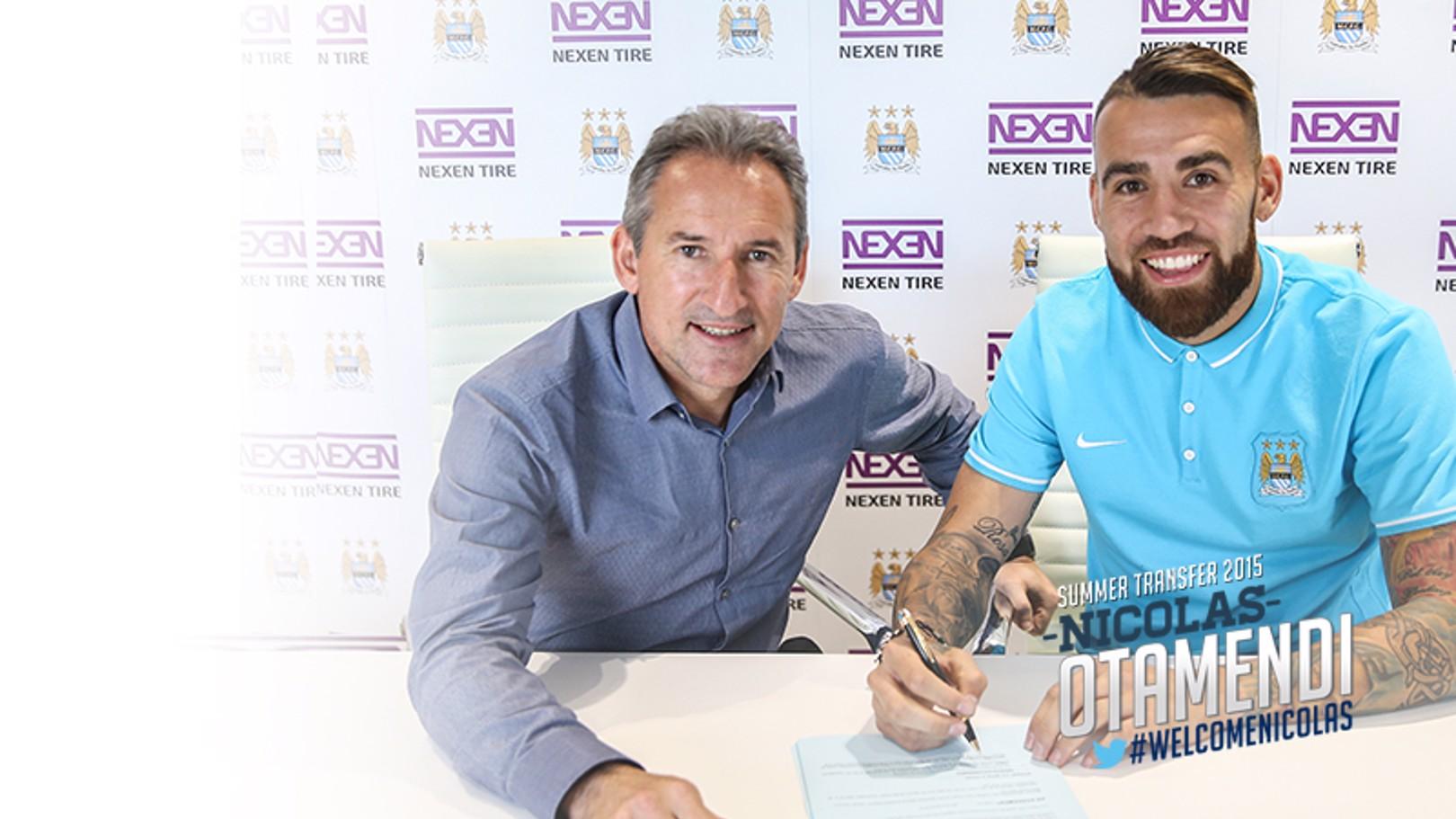 Nicolas Otamendi joins City
