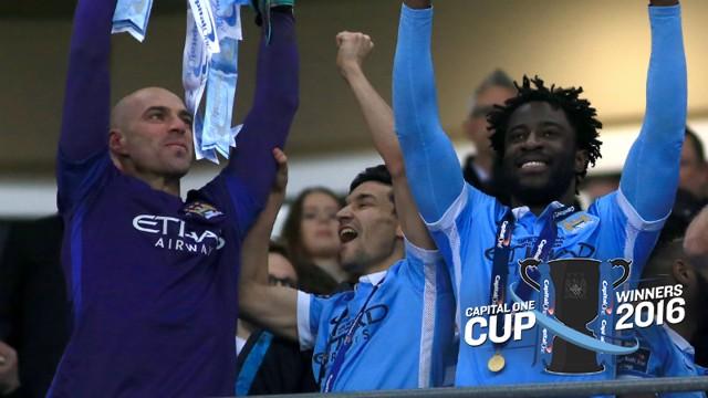 Wilfried Bony celebrates