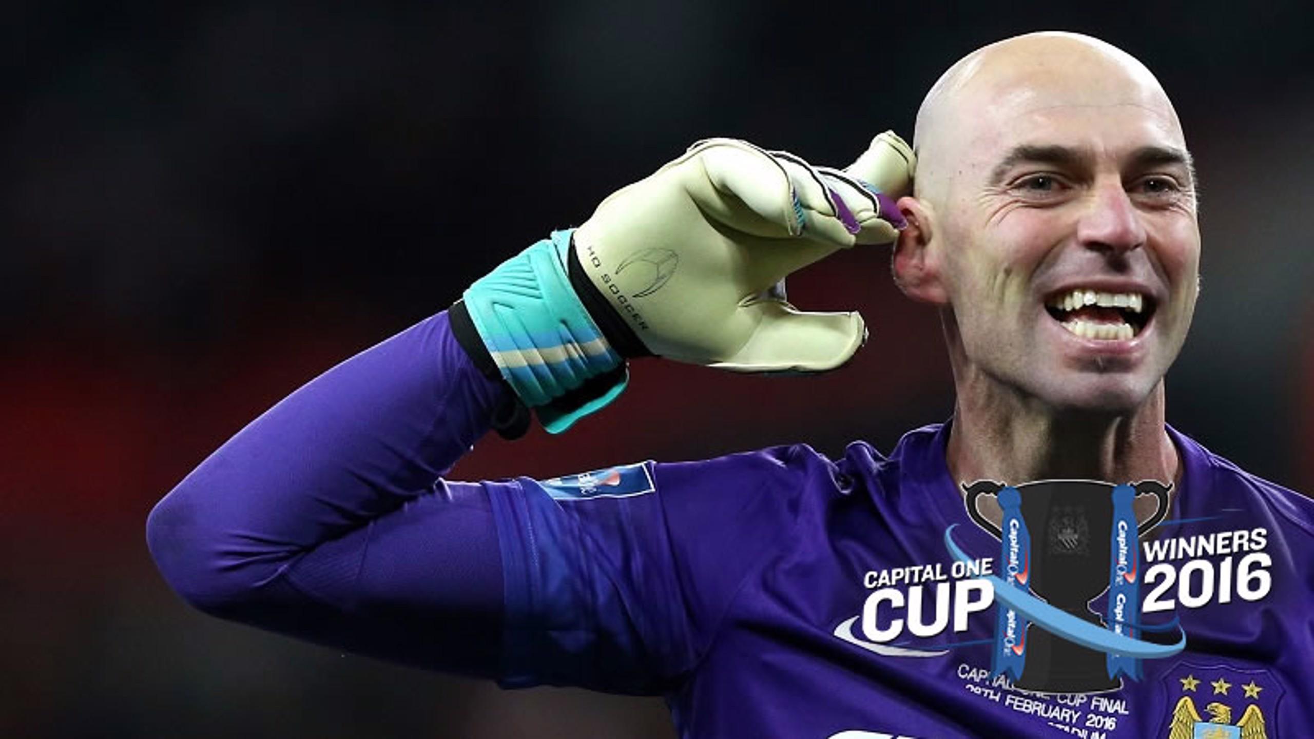 Caballero spot-kick king as City lift League Cup