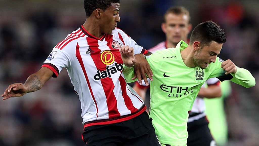 ROBERTS IN ACTION: Away to Sunderland....