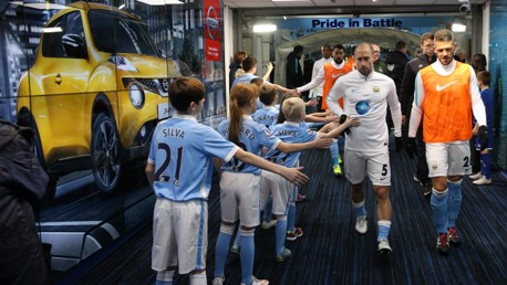 City v Everton: Tunnel Cam