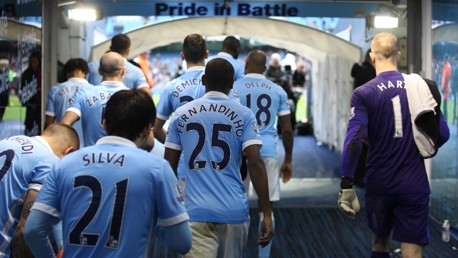 City v Leicester: Tunnel Cam