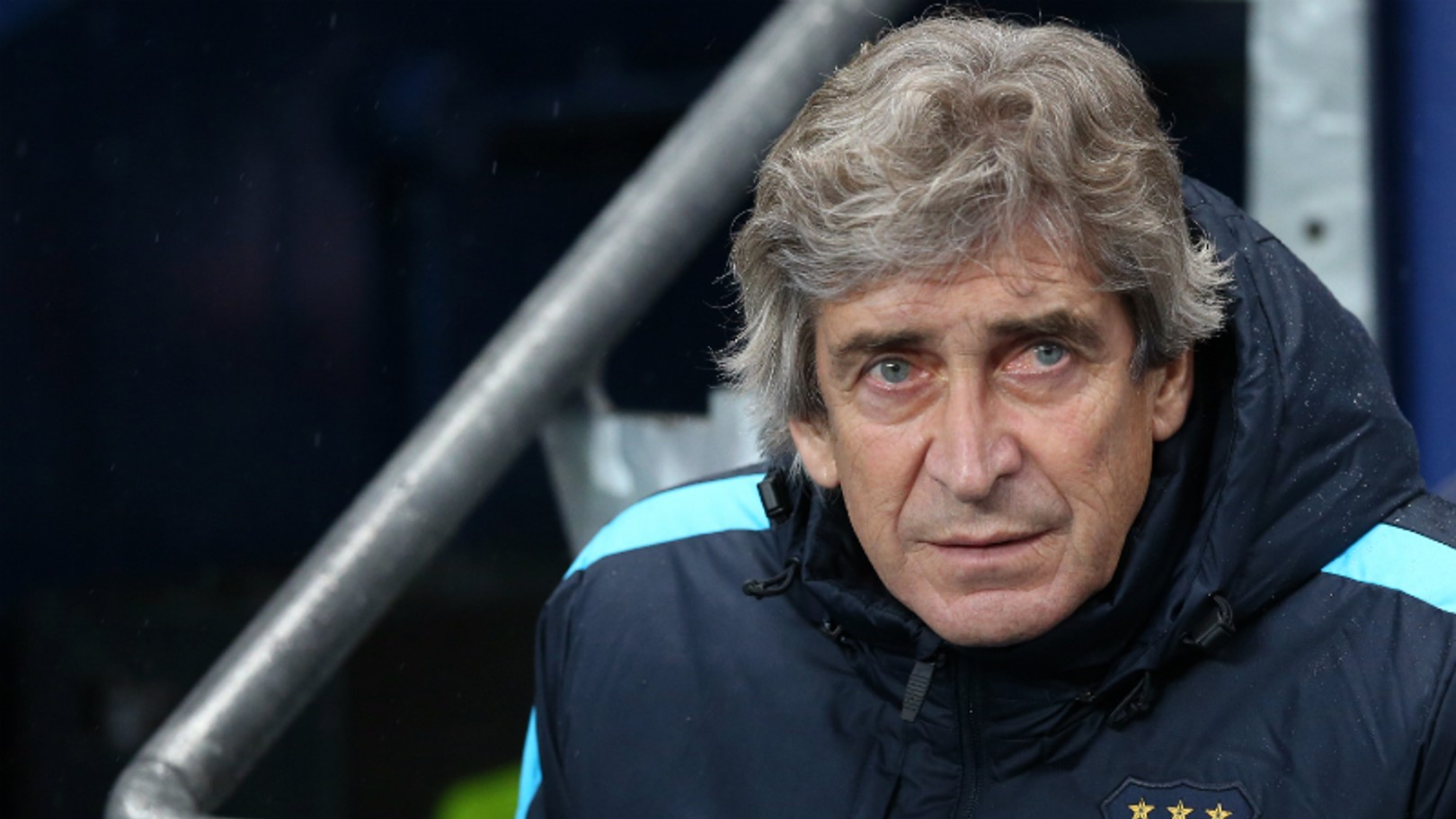 Manuel Pellegrini watches on from the technical area