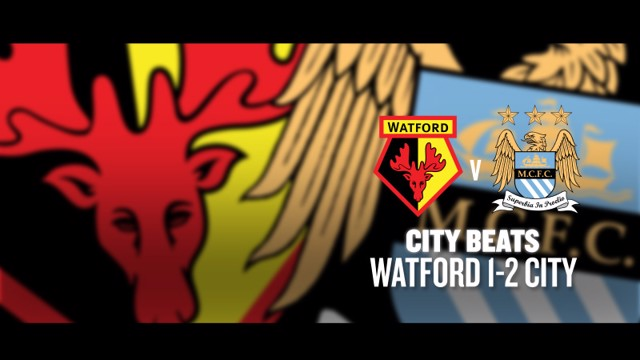 Manchester City City Beats v Watford graphic