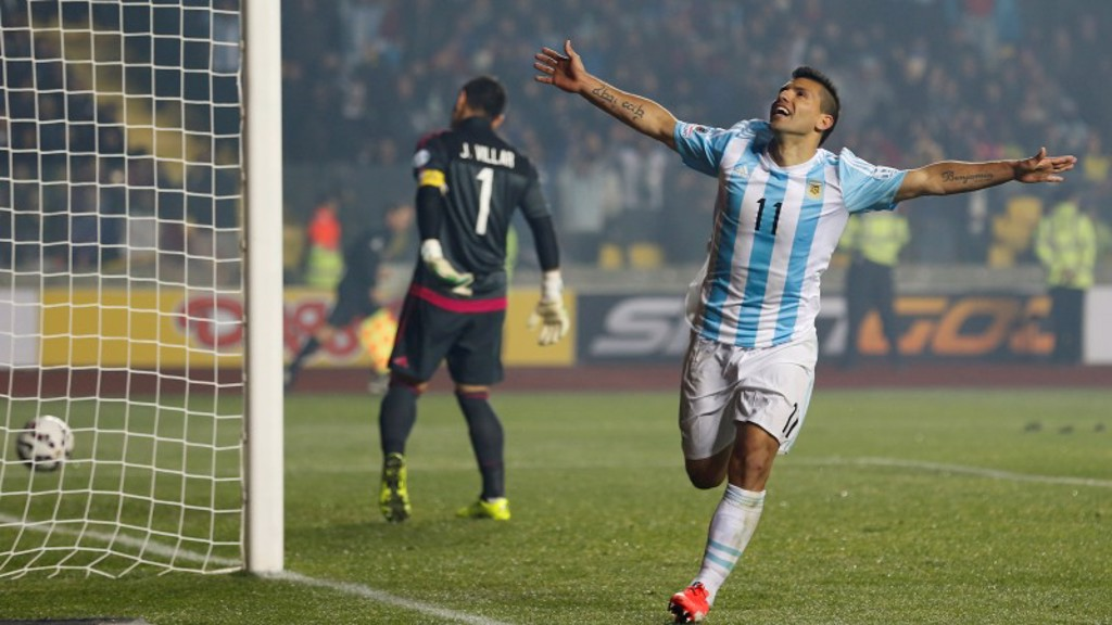 POWER SERGE: Aguero has a good record v Paraguay