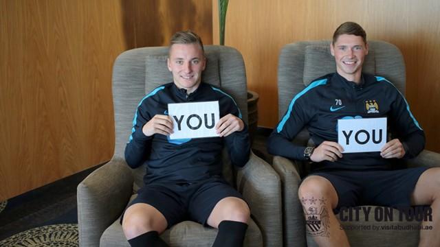 Team mates Glendon and Evans