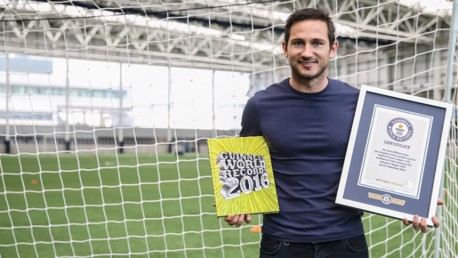 Lampard enters Guinness World Book of Records