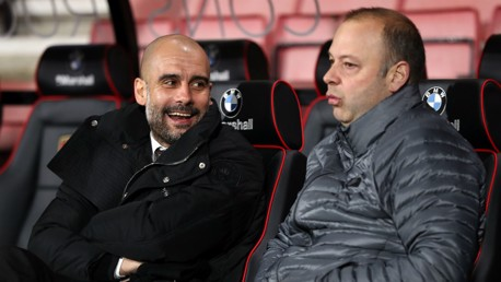 LAUGH: Pep seems pretty relaxed ahead of this one