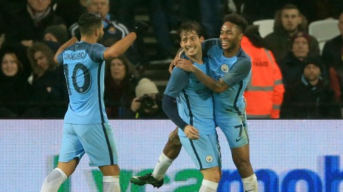 Silva and Sterling celebrate