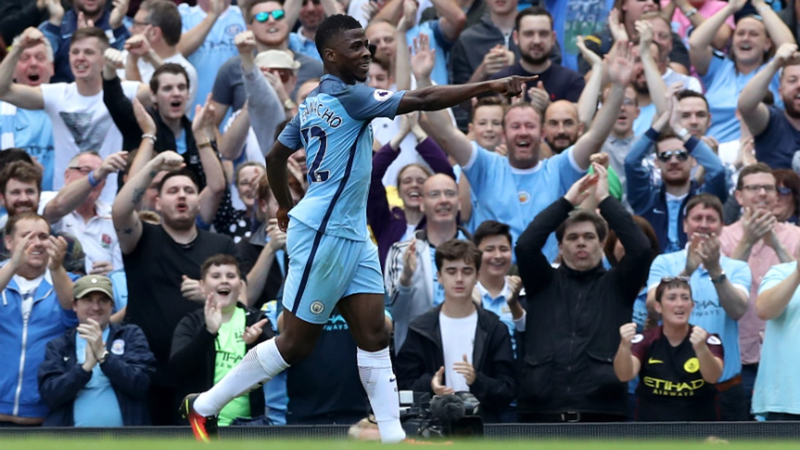 HEAVEN SENT: Kelechi at his clinical best