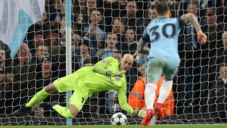 SAVE: Caballero saves Falcao's penalty
