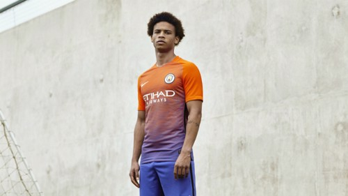 "248565439 ... a new kit for Leroy Sane who s looking forward to what his debut  campaign holds  ""It s going to be a special season for me playing at Manchester  City"""
