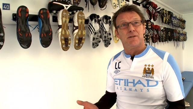 Manchester City kit manager Les Chapman