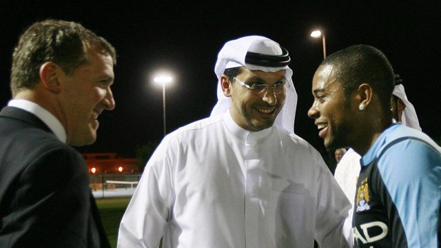 Khaldoon says hello to Robinho