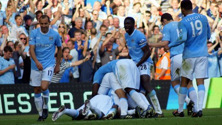 Celebration v Arsenal