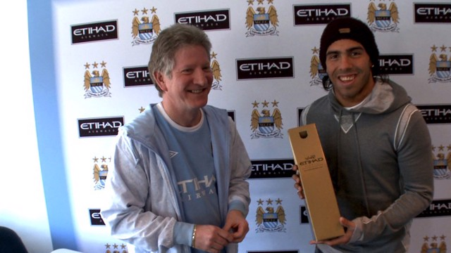 Tevez January player of month award