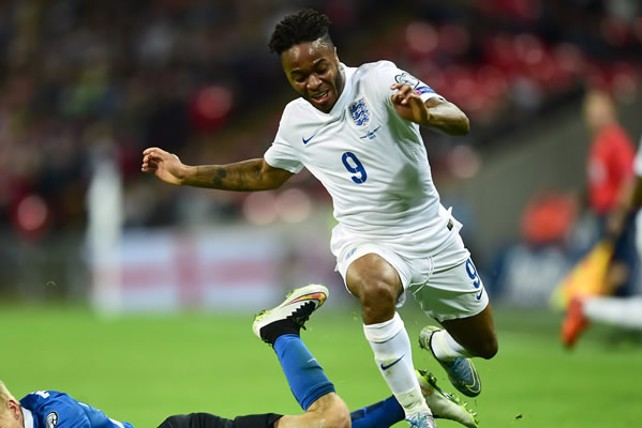 RAHEEM'S DREAM: Sterling out for glory