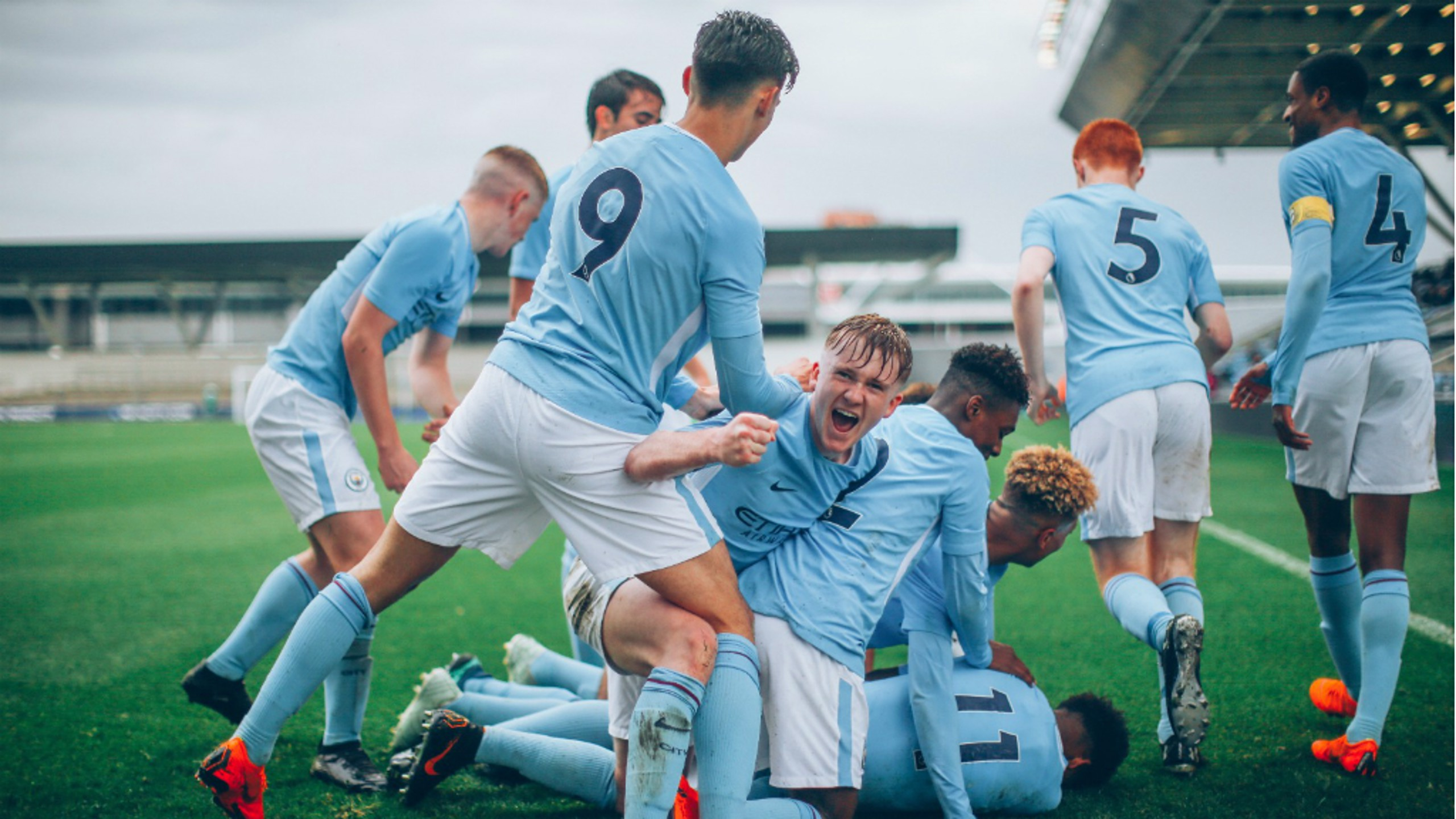 ALL SMILES: Manchester City Under-18s are hoping for more success over the 2018/19 campaign