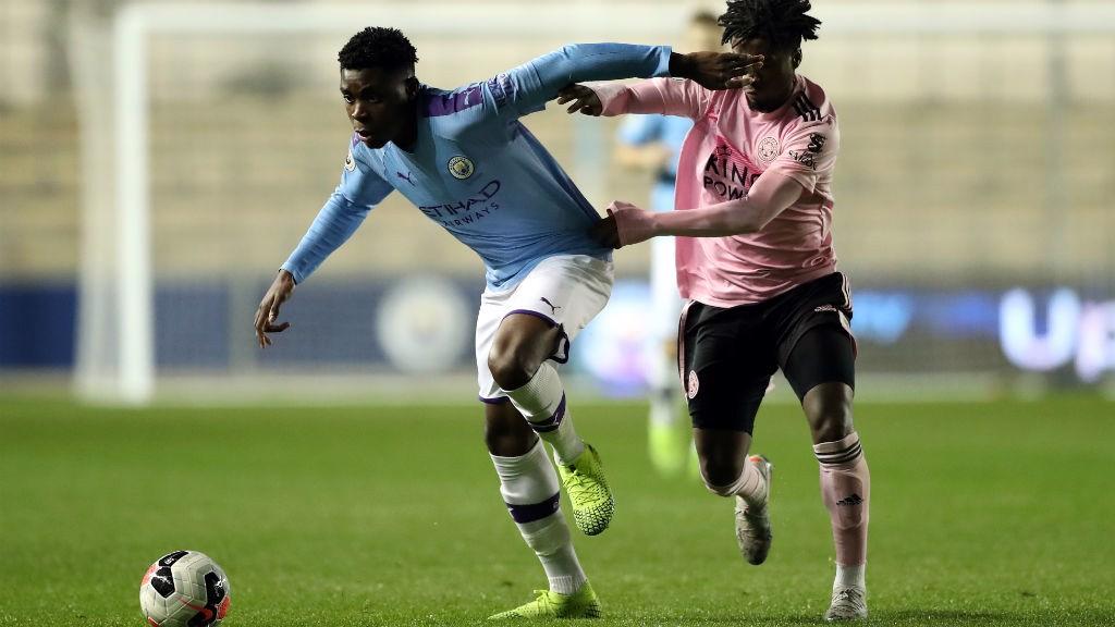 ON THE BALL: Fisayo Dele-Bashiru battles for possession
