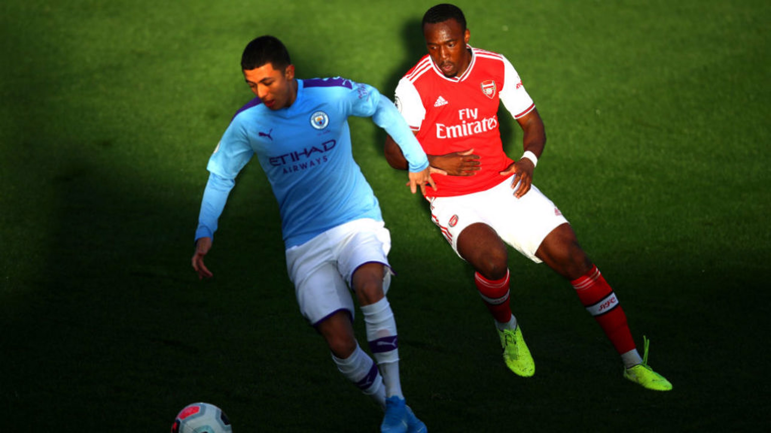 ALL SQUARE: Poveda-Ocampo was on target in the Premier League 2 draw against Arsenal.