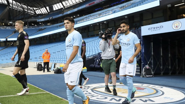 FITNESS: Ilkay Gundogan starred for Manchester City EDS against Leicester.