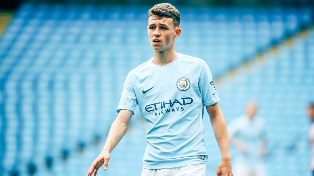 LEARNING: Phil Foden feels he's already improved since working with Pep Guardiola.