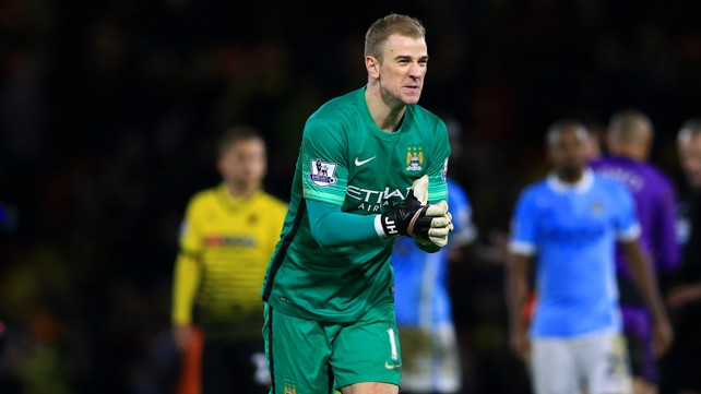 JOB DONE: Joe Hart after the final whistle