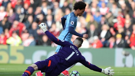 PEN OR NO PEN? : The main talking point of the first half involved Leroy Sane and Fraser Forster.