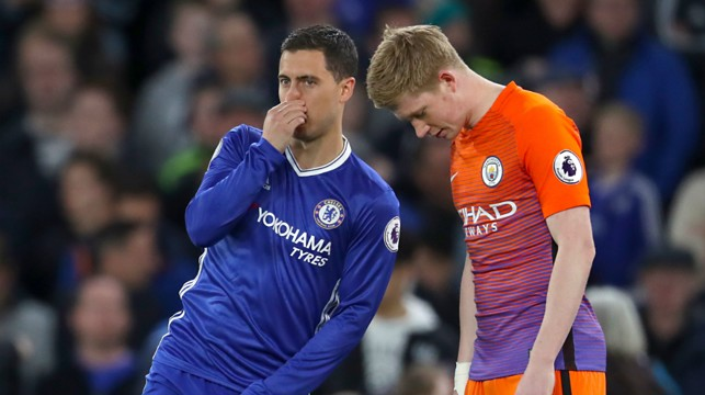 TEMPORARY RIVALS:Belgium pair of Kevin De Bruyne and Edin Hazard exchange words