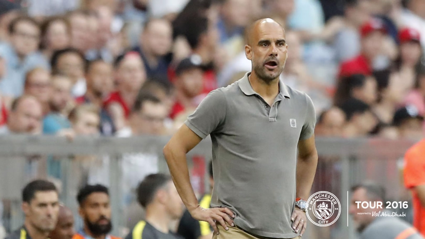 MEDIA DAY: Pep addresses the media for the first time in China.