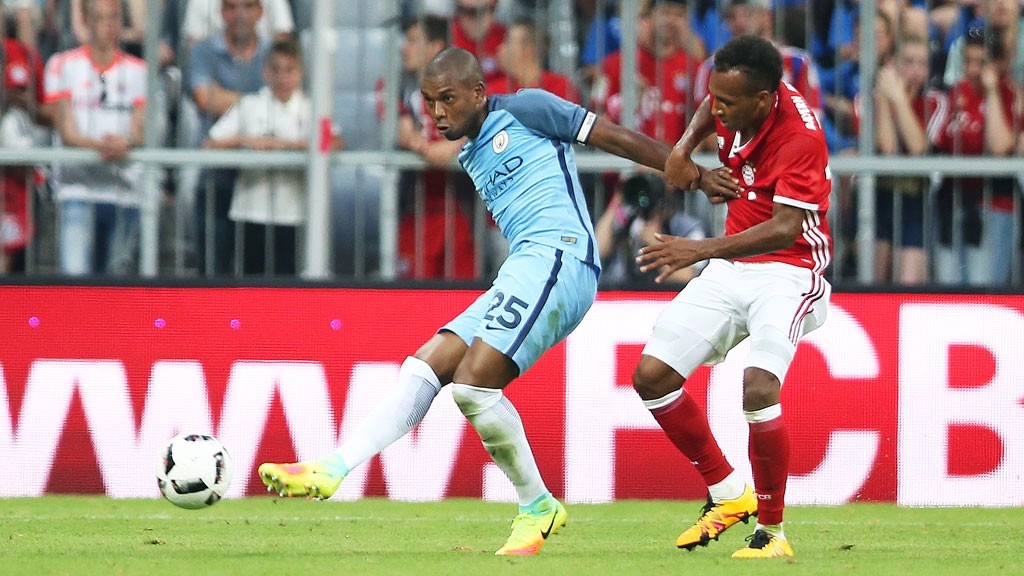 CAPTAIN: Fernandinho skippered the Blues.