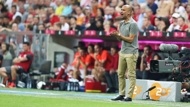 TOUCHLINE: Pep oversees his new charges