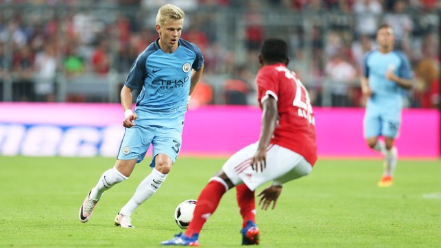 NEW BOY: Zinchenko takes up possession.