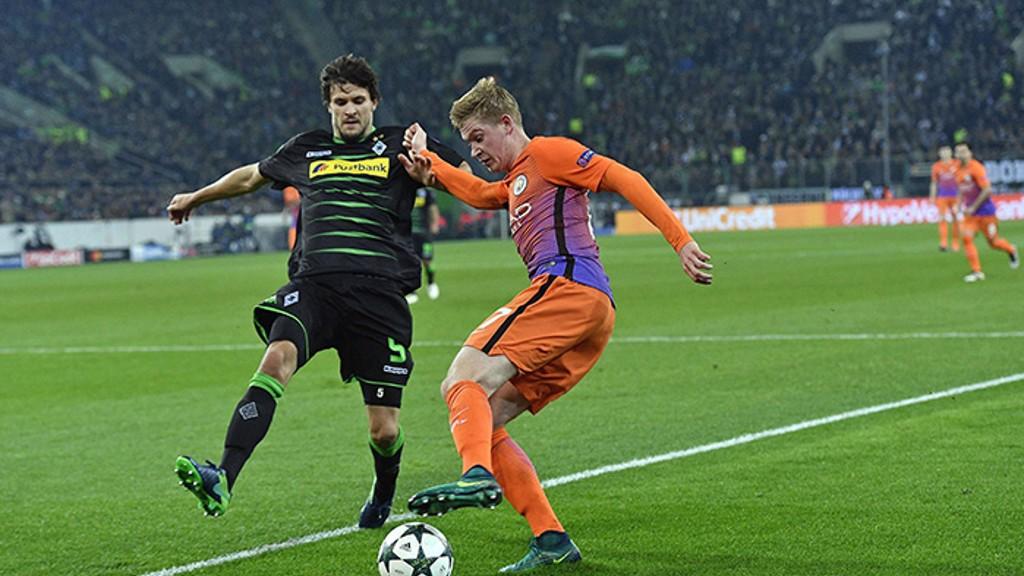 CONTROL - De Bruyne controls the ball