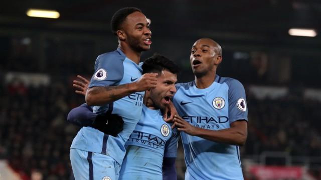 KUN: Aguero celebrates putting City 2-0 up