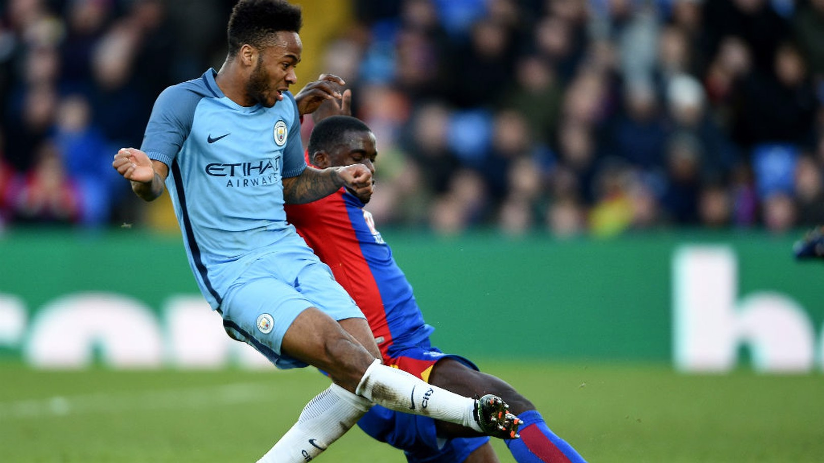 BREAKTHROUGH: Raheem Sterling keeps his nerve to score