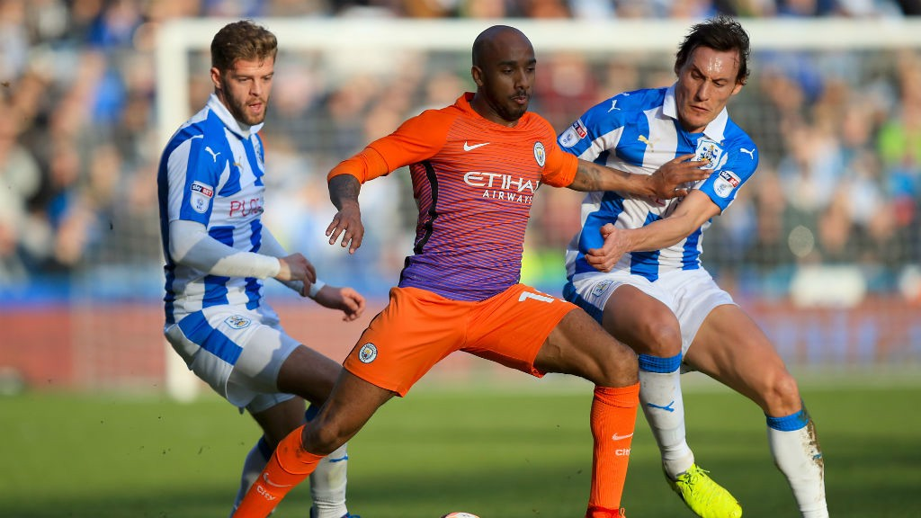 TERRIERS: Delph keeps a couple of opponents at arms length