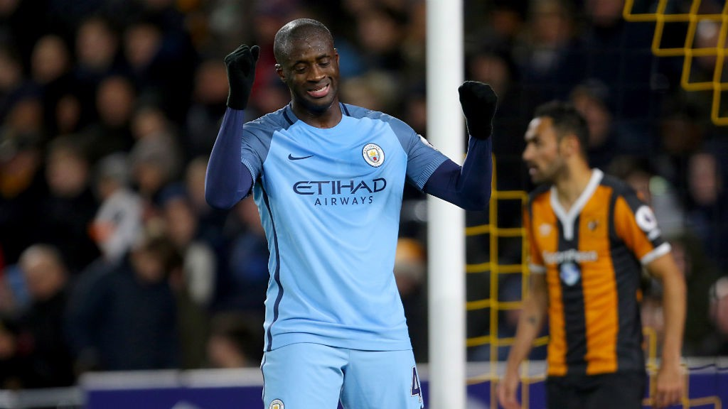 FRUSTRATION: Yaya Toure controlled the midfield throughout the evening for City