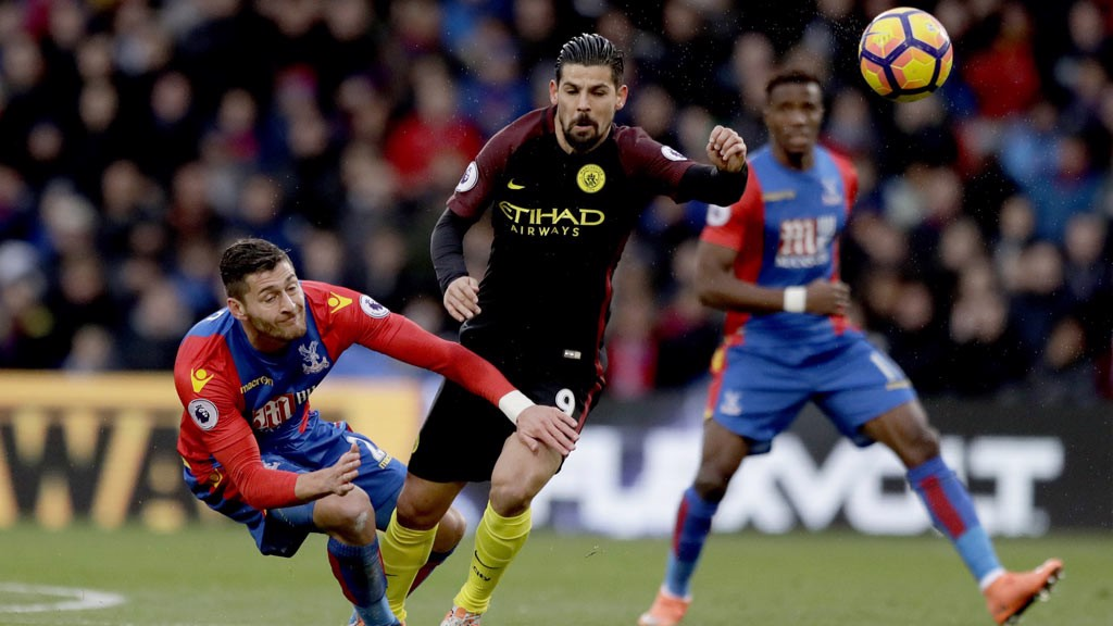 BATTLER: Nolito fights for possession