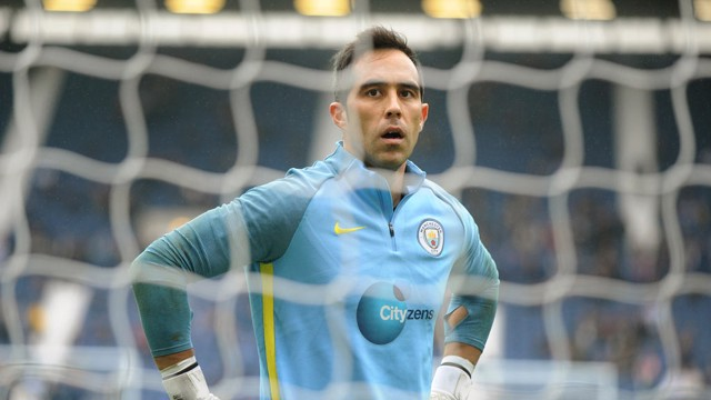 KEEPER VIEW: Claudio Bravo has backed his team-mates
