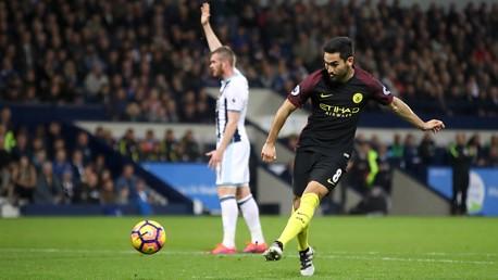 DOUBLE - Manchester City's Ilkay Gundogan scores his side's third goal