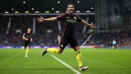 ILKAY - Manchester City's Ilkay Gundogan celebrates scoring his side's third goal