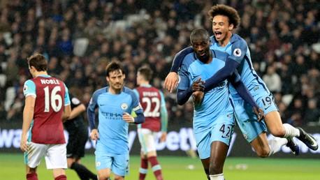 West Ham v Man City: Brief highlights