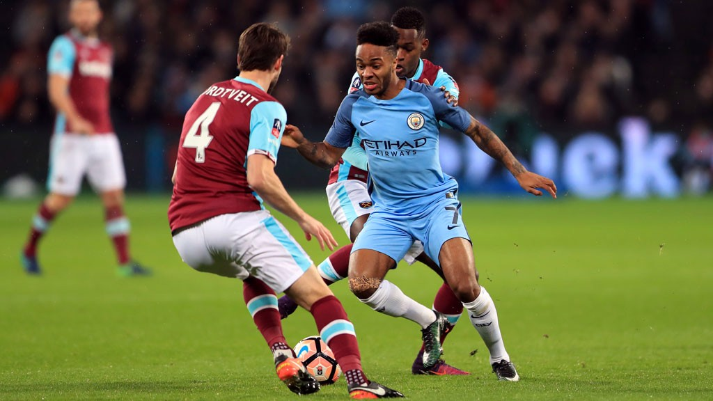 STERLING DISPLAY: Raheem was a menace all evening