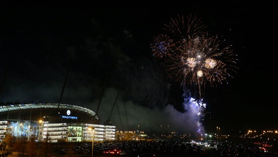 FIREWORKS: The evening began with a bang at the Etihad Stadium