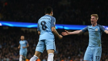 LETHAL: These two were on the scoresheet in a special night at the Etihad, as City finally conquered Barca with a 3-1 victory