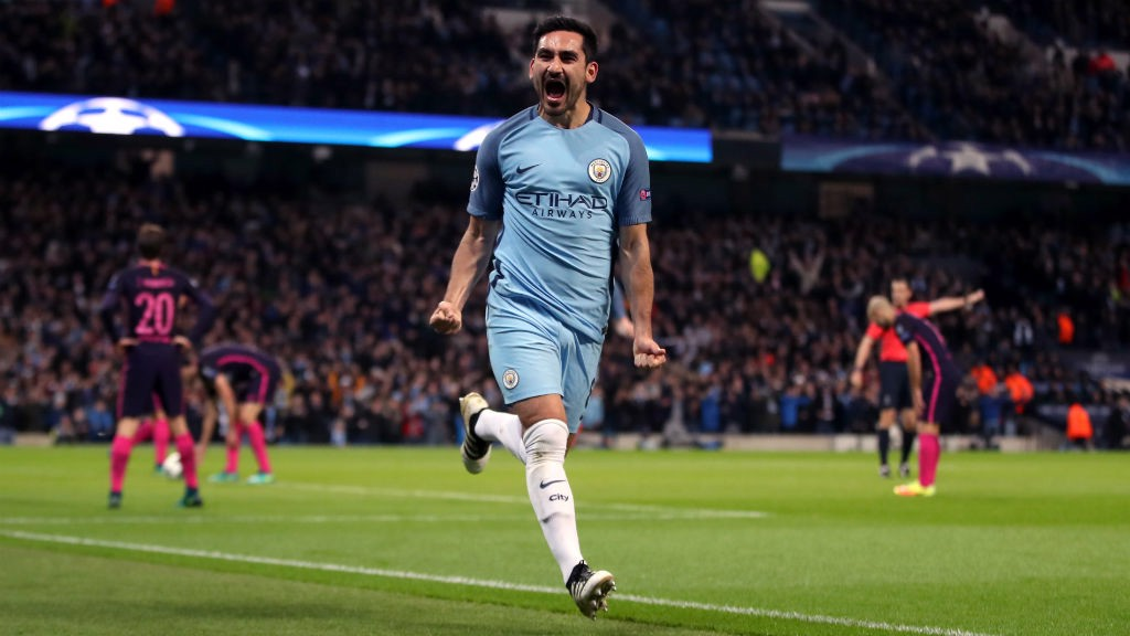 DOUBLE: Gundogan's two goals helped City to a famous win