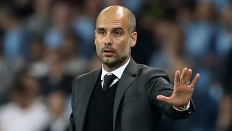 EASY DOES IT: Pep Guardiola calls for calm