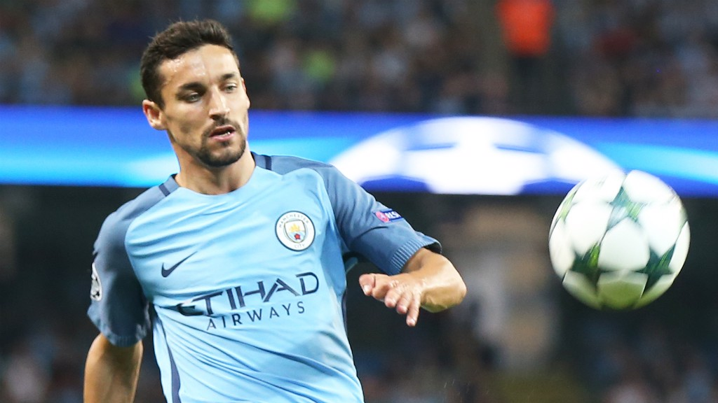 EYES ON THE PRIZE: Jesus Navas hopes to help City return to winning ways
